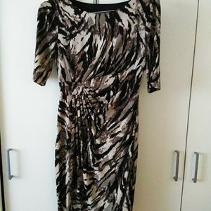 Connected Apparel animal party print dress